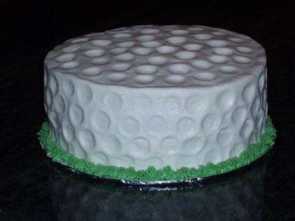 Golf Ball Cake — Birthday Cake Photos