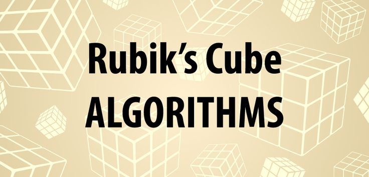 Rubik's Cube Algorithms List