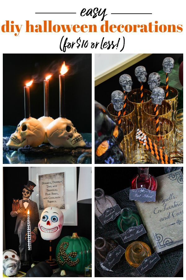 Easy DIY Halloween Decorations - Less than $10 to make! Halloween - make halloween decoration