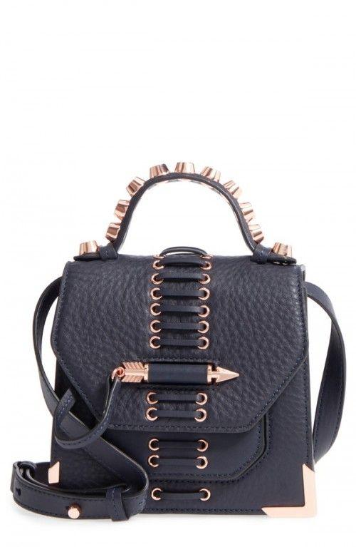 Mackage+Mini+Rubie+Leather+Crossbody+Bag+Blue