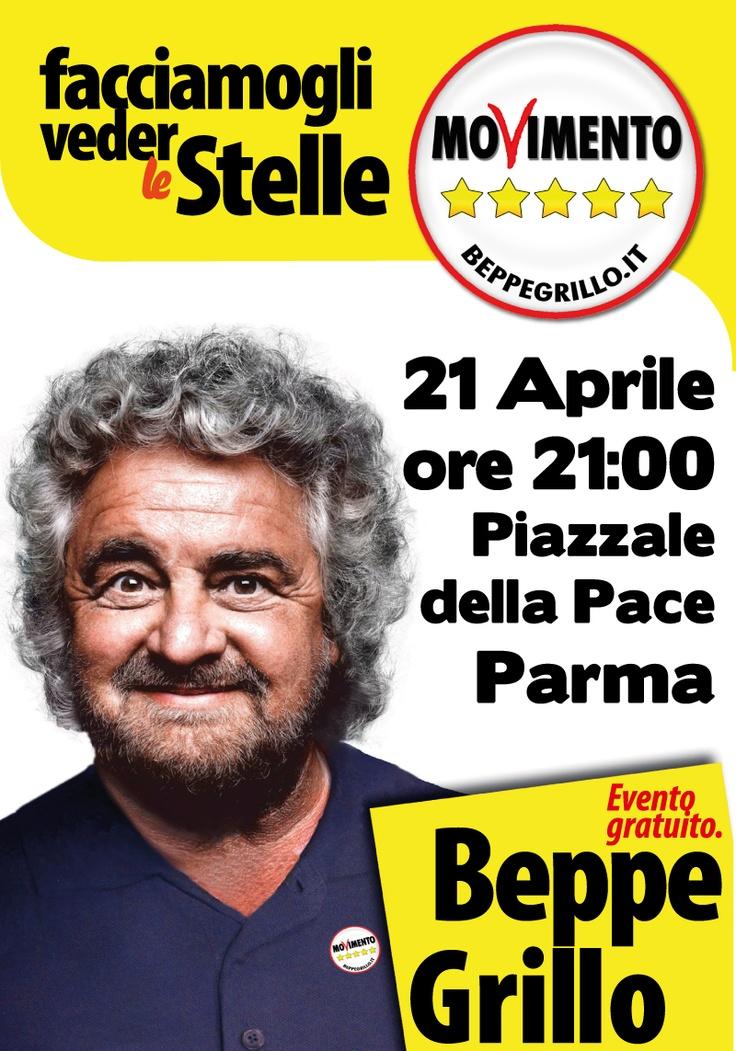 Facciamogli Veder le Stelle - 2013 - Movimento 5 Stelle - Beppe Grillo - Political Rally Poster