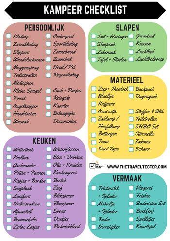GRATIS Kampeer Checklist