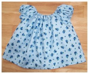 Free baby peasant top sewing pattern with template. Takes about 2 hours, and is hard to mess up!