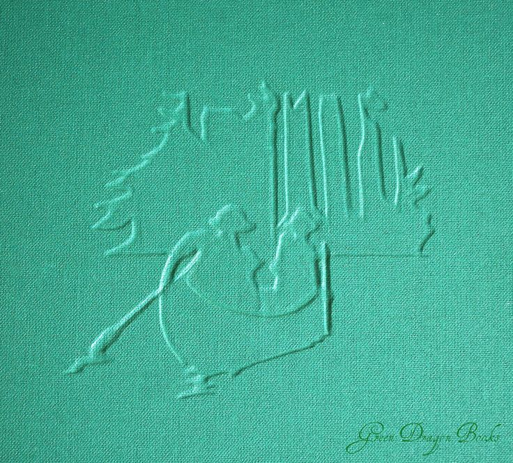 Relief art from a the collected works of Robert Baden-Powell which I bound last summer in three big volumes.