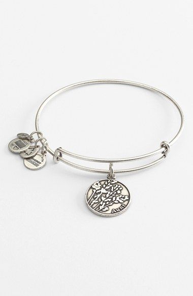 Alex and Ani 'Aunt' Expandable Wire Bangle available at #Nordstrom great way to make an adjustable wire bracelet