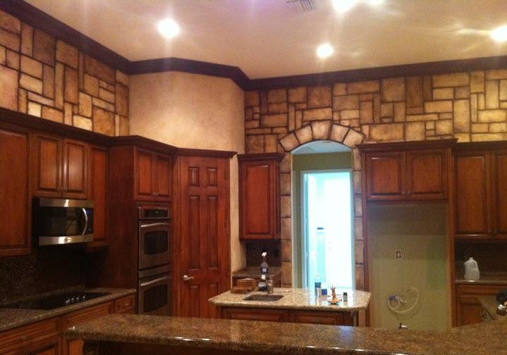 pictures of stone backsplashes for kitchens faux finish in the kitchen walls and fixtures 9133