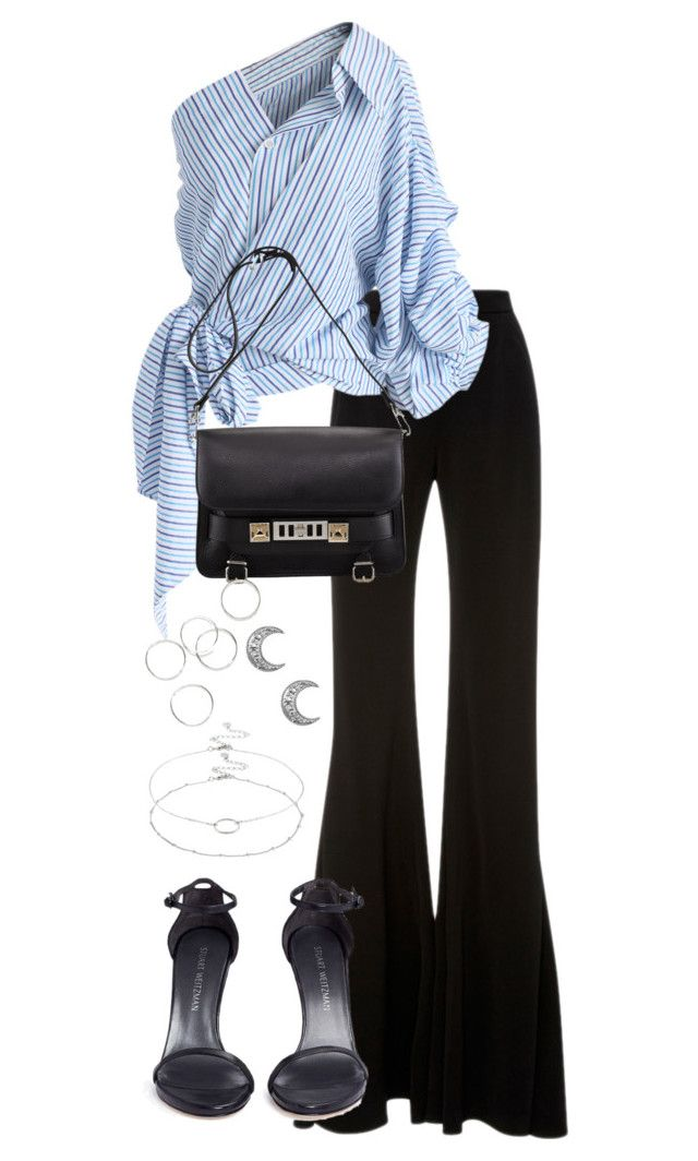 """Untitled #4202"" by theeuropeancloset on Polyvore featuring Brandon Maxwell, Chicwish, Proenza Schouler, Stuart Weitzman and Accessorize"