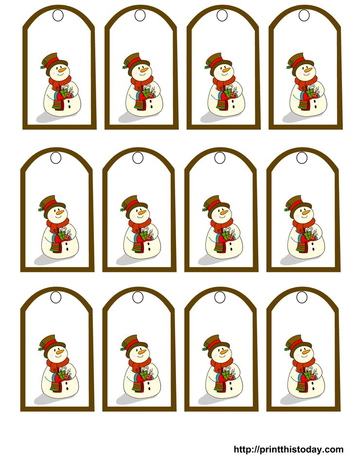 25 unique free printable gift tags ideas on pinterest free free printable snowman christmas gift tags negle Image collections