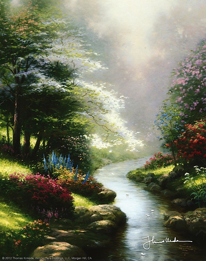 Thomas Kinkade - Petals of Hope  1995