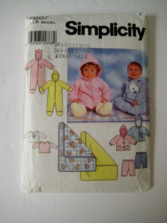 Hey, I found this really awesome Etsy listing at https://www.etsy.com/listing/459474300/simplicity-sewing-pattern-7807-baby