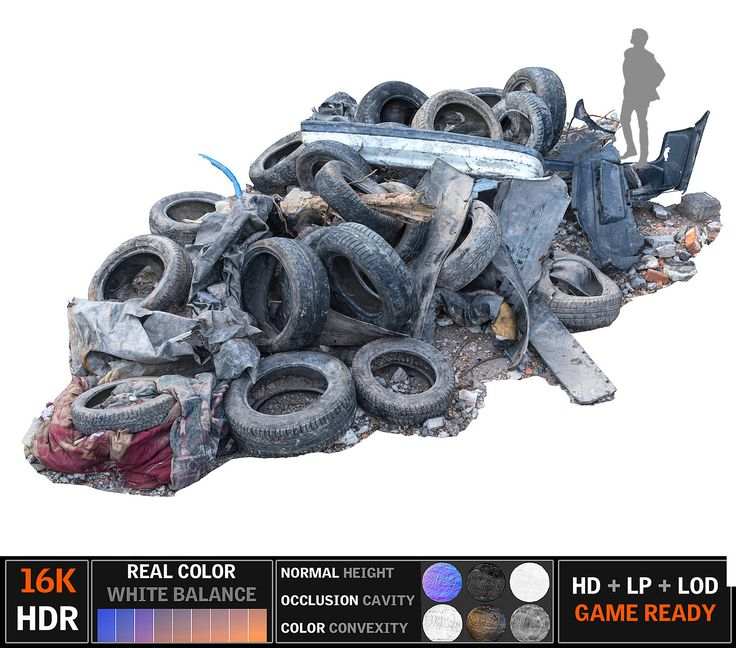 tire garbage 16k 3d max