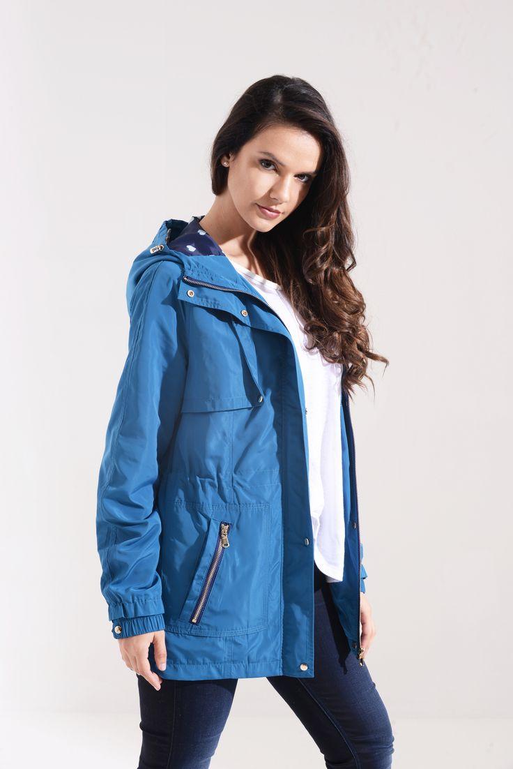 Steel Blue Water Resistant Utility Jacket SKU:01S17STEELBLUE-MAC Price: £34.99