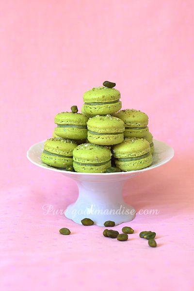 Macarons à la pistache - www.puregourmandise.com