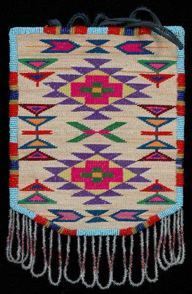 Nez Perce Cornhusk Bag with Bead Work