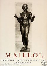 Aristide MAILLOL (1861-1944) / Willy MAYWALD (1907-85) Lithographie Mourlot 1954