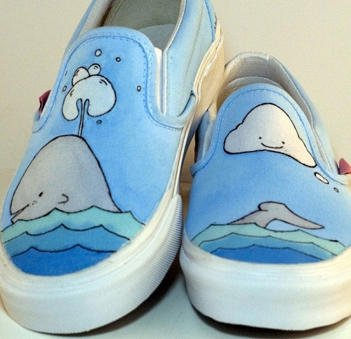 easy and adorable: sharpies and/ or paint pens/fabric markers. personalized vans =0))