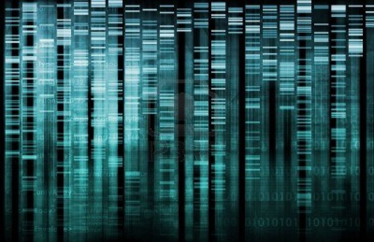 DNA Research of Science Genetic Data Background Stock Photo - 6119826