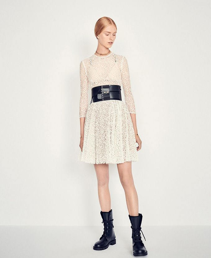 Cotton Lace Dress Ready To Wear Woman Dior Style In