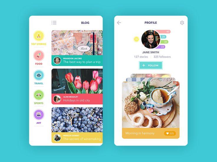 Blog App by Ludmila Shevchenko for Tubik Studio