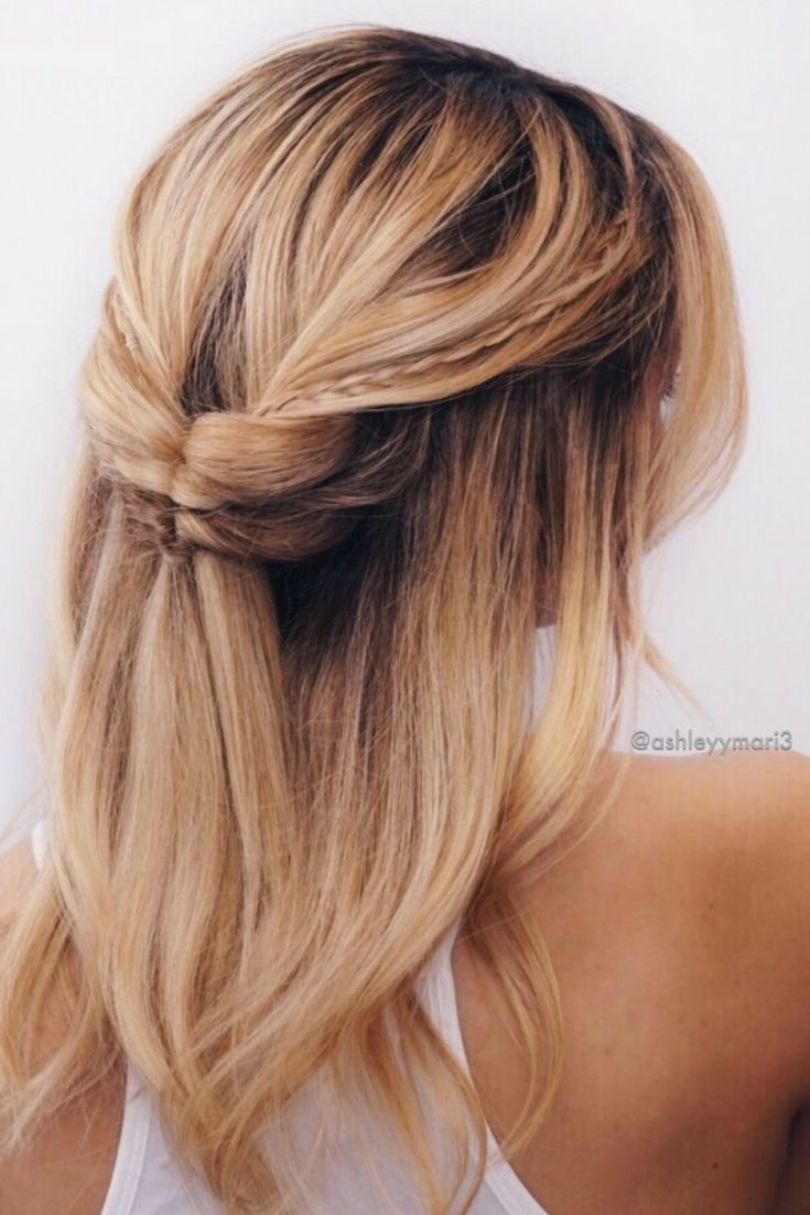 short hairstyles, medium lengthy hairstyles, summer hairstyles, spring hairstyles, easy, simple, blonde ombre, braids, half up do, prom, date night, hairstyle