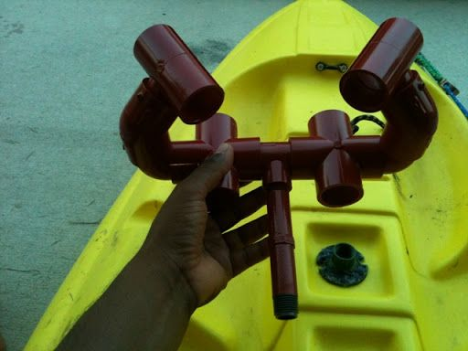 rod holder for pedal boat