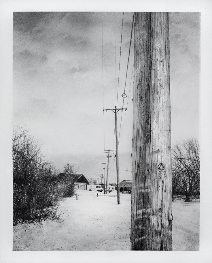"""5Th Street Looking South"", Pencil on Arches watercolor paper,     16"" x 20"" by Armin Mersmann"