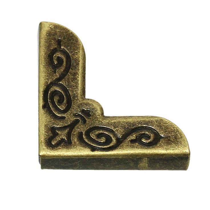 Book Scrapbooking Albums Menus Folders Corner Protector Antique Bronze Flower Pattern 21mm x 21mm,100 PCs 2016 new #shoes, #jewelry, #women, #men, #hats
