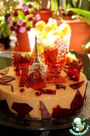 """Торт крем-карамель """"Осень в Париже"""""""