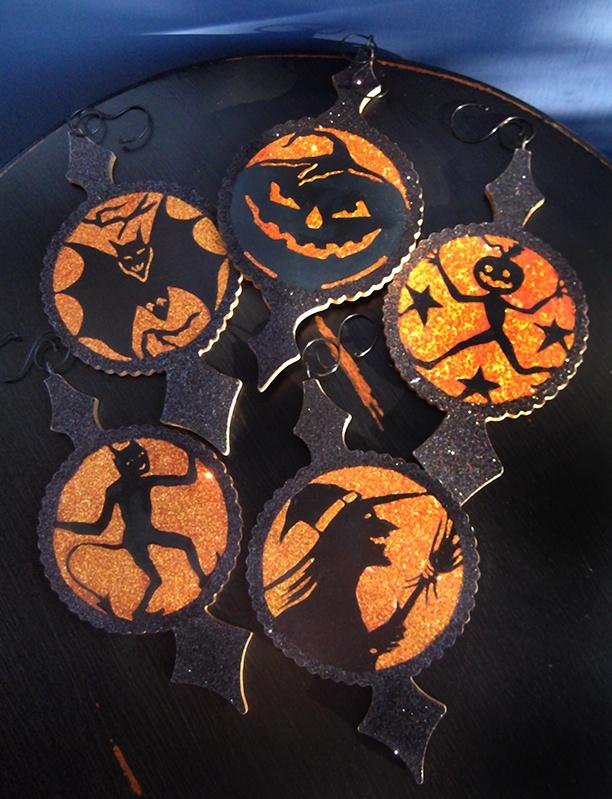 halloween ornaments halloween glitter - Glitter Halloween Decorations