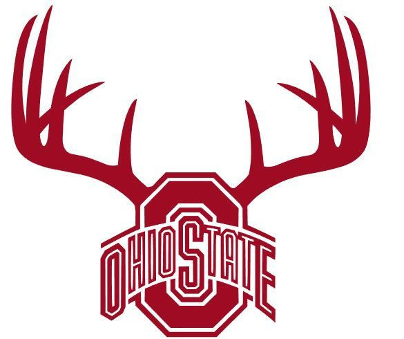 Ohio state deer hunting antler truck window decal diecut best of both worlds