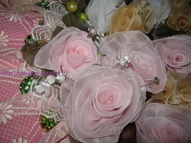 Изготовление цветов из ткани