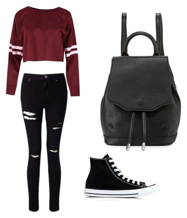 """Untitled #42"" by spikeytwister on Polyvore featuring Miss Selfridge, Converse and rag & bone"