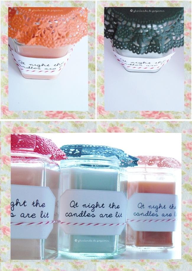 Pi di 25 fantastiche idee su vasetti con candela su - Candele fatte in casa ...