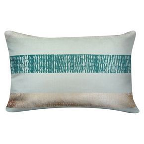 Striped Lumbar Pillow Mint and Gold - Room Essentials™