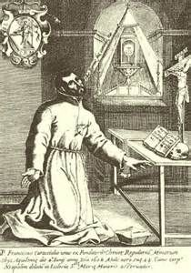 Francis Caracciolo (1563 – 1608) was an Italian Catholic priest who co-founded the Congregation of the Clerics Regular Minor with John Augustine Adorno. He decided to adopt a religious life at the age of 22.  In 1587 he joined the Bianchi della Giustizia (The White Robes of Justice), whose object was to assist condemned criminals to die holy deaths.  He was beatified by Pope Clement XIV in  1769, and canonized by Pope Pius in 1807.   He is a patron saint of Naples and of Italian cooks.