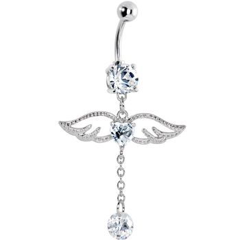 I like this one!!     Crystalline Gem Winged Heart Drop Solitaire Belly Ring  $9.99 @Lesley Young.com   Bodycandy.com