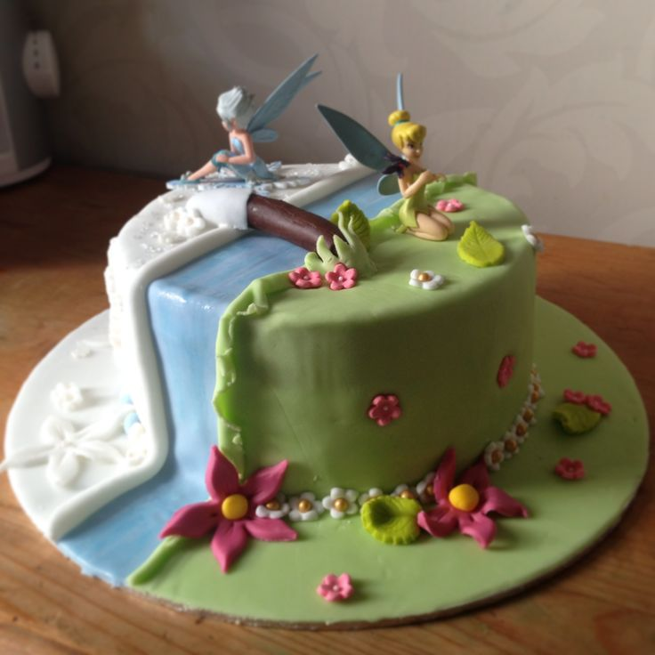14 best Cake for Sophie images on Pinterest Tinkerbell Tinkerbell