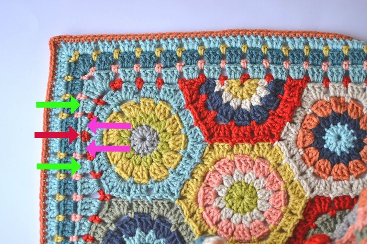 Dover Amp Madden A Tutorial Of Sorts Hexagon Blanket