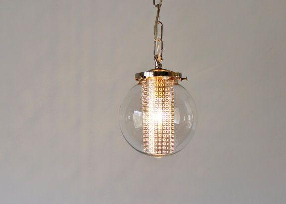 Cute Globus Pendelleuchte moderne H ngelampe H ngeleuchte Klarglas Globe Schatten Silberkette und Schatten einf gen
