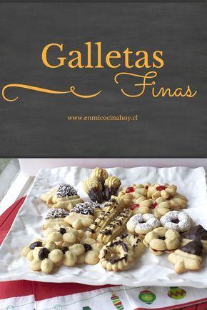Las galletas finas son tradicionales en las cafeterías en Chile, me encanta pedir un surtido y saborearlo con un rico café.