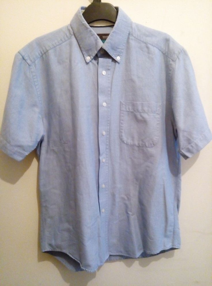 Marks and Spencer Blue Classic Oxford  Shirt 100% Cotton  Size M 39-40