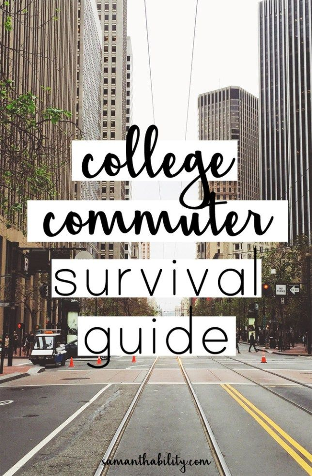 Commuting in college can be frustrating! Don't let it get you down, follow this survival guide!