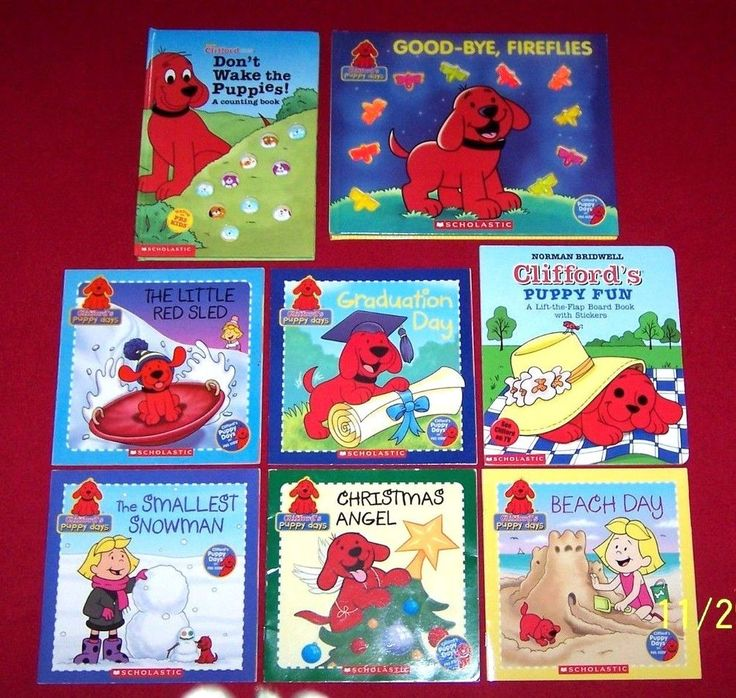 Clifford's Puppy Days 8 Picture Books PBS Kids Don't Wake the Puppies! Fireflies