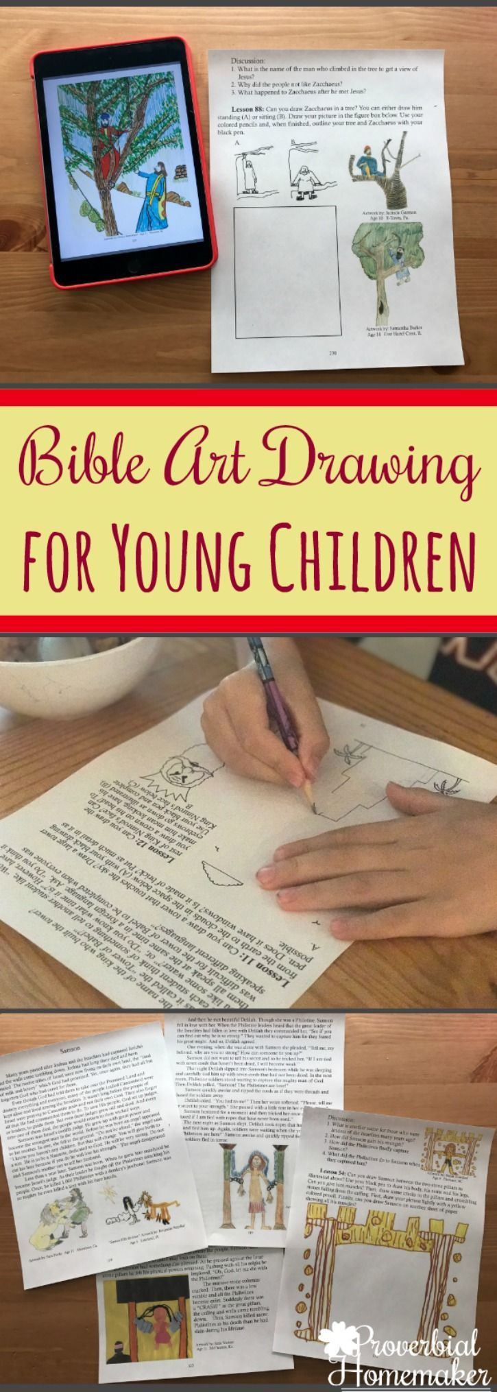 Looking for a simple way to teach young kids Bible? Add Bible art drawing for children to your homeschool or family devotions with How Great Thou Art!