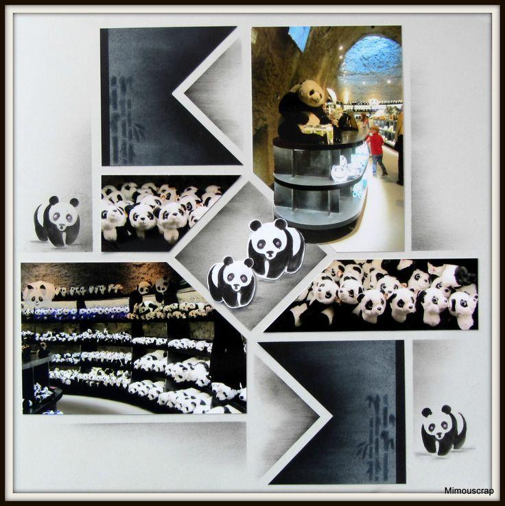 Pairi Daiza - La grotte des pandas et sa boutique. - Le scrap européen de Mimouscrap