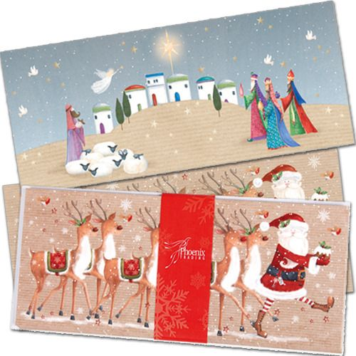 Mixed Card Packs makes choosing cards easy! Our Traditional Pack (XP33) features 8 cards (4 each of each designs) with white envelopes. To top it off, it comes beautiful presented with a red belly band.