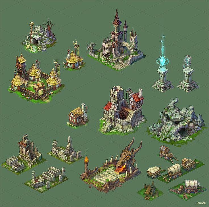 Buildings for game. by ~Jonik9i on deviantART