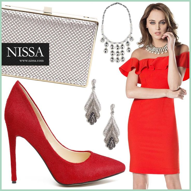 www.nissa.com  #nissa #revelion #tinuta #accesorii #prieteni #versatil #rosu #clutch #stylish #bijuterii #stralucitoare #frumoasa #rochie #dress #red #plic #cercei #earrings #colier #necklace #shoes #pantofi