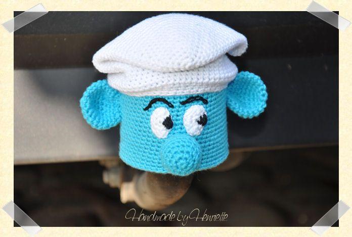 Smurf tow ball cover, crochet