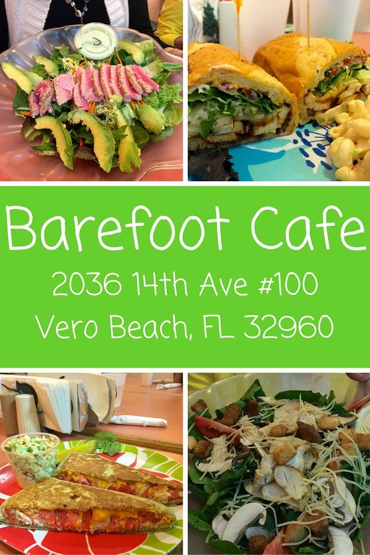 The Barefoot Cafe, in downtown Vero Beach, is a wonderful choice for a quick, delicious lunch with affordable prices.: